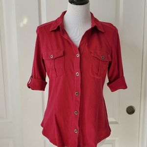 Women's 3/4 Button Down Shirt